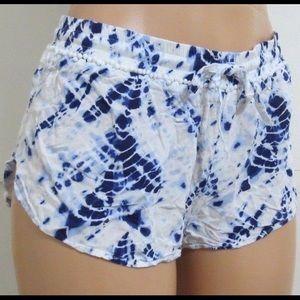 Victoria's Secret Blue Tie Dye Sleep Shorts